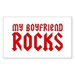 My Boyfriend Rocks Sticker (Rectangle)