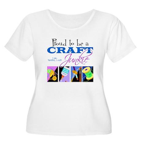 Craft Junkie Women's Plus Size Scoop Neck T-Shirt