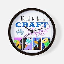 Craft Junkie Wall Clock