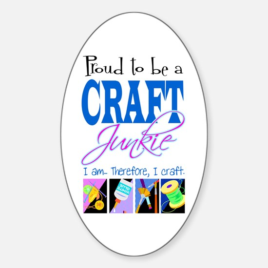 Craft Junkie Oval Decal