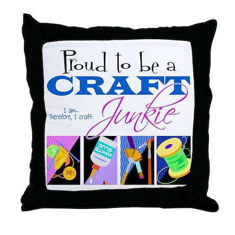 Craft Junkie Throw Pillow