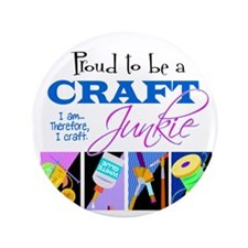 """Craft Junkie 3.5"""" Button"""