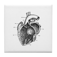 Vintage Heart 3 Tile Coaster