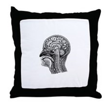 Vintage Head Throw Pillow