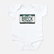 Breck License Plate Infant Bodysuit
