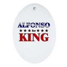 ALFONSO for king Oval Ornament