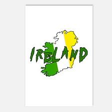 Irish Colors on Irish Map Postcards (Package of 8)