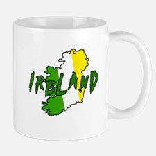 Irish Colors on Irish Map Mug