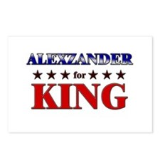 ALEXZANDER for king Postcards (Package of 8)