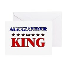ALEXZANDER for king Greeting Cards (Pk of 10)