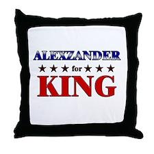 ALEXZANDER for king Throw Pillow