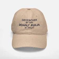 Geocacher Deadly Ninja Baseball Baseball Cap