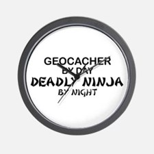 Geocacher Deadly Ninja Wall Clock