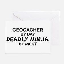 Geocacher Deadly Ninja Greeting Cards (Pk of 10)