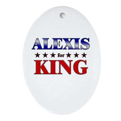 ALEXIS for king Oval Ornament