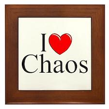"""""""I Love Chaos"""" Framed Tile"""