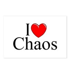 """I Love Chaos"" Postcards (Package of 8)"