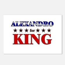 ALEXANDRO for king Postcards (Package of 8)