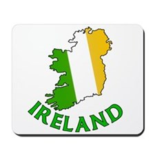 Map of Ireland in Green White and Orange Mousepad
