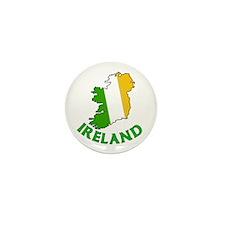 Map of Ireland in Green White and Orange Mini Butt