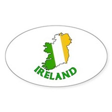 Map of Ireland in Green White and Orange Decal