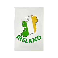 Map of Ireland in Green White and Orange Rectangle