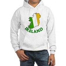 Map of Ireland in Green White and Orange Jumper Hoody