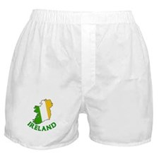 Map of Ireland in Green White and Orange Boxer Sho