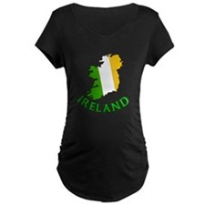 Map of Ireland in Green White and Orange T-Shirt