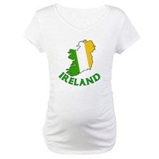 Map of Ireland in Green White and Orange Shirt