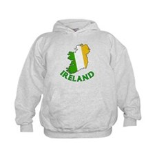 Map of Ireland in Green White and Orange Hoody