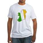 Tricolor Map of Ireland Fitted T-Shirt