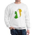 Tricolor Map of Ireland Sweatshirt