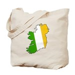 Tricolor Map of Ireland Tote Bag