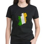 Tricolor Map of Ireland Women's Dark T-Shirt