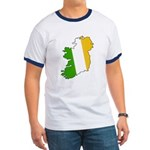 Tricolor Map of Ireland Ringer T
