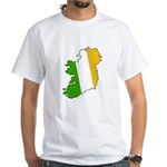 Tricolor Map of Ireland White T-Shirt