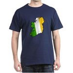 Tricolor Map of Ireland Dark T-Shirt