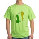 Tricolor Map of Ireland Green T-Shirt