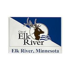 Elk River MN Flag Rectangle Magnet