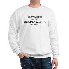Kayaker Deadly Ninja Sweatshirt