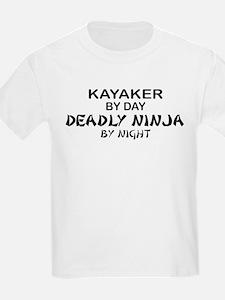 Kayaker Deadly Ninja T-Shirt