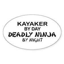 Kayaker Deadly Ninja Oval Decal