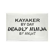 Kayaker Deadly Ninja Rectangle Magnet