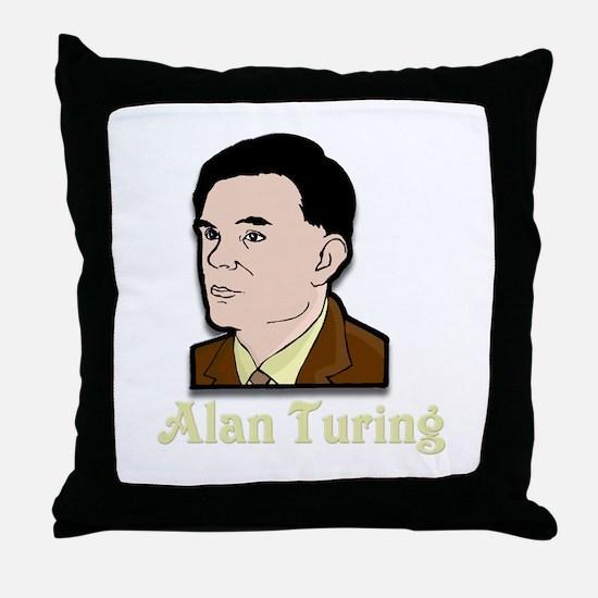 Alan Turing Throw Pillow