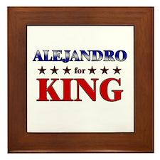 ALEJANDRO for king Framed Tile