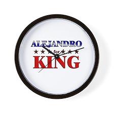ALEJANDRO for king Wall Clock