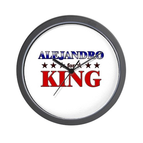 ALEJANDRO for king Wall Clock