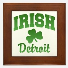 Detroit Irish Framed Tile