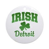 Michigan irish Round Ornaments